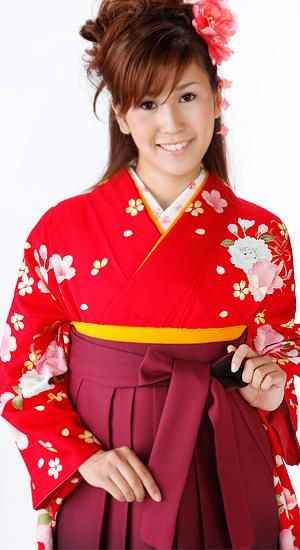桜・牡丹【袴レンタル着物】K2384