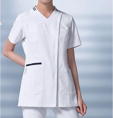 036 KAZENカゼン レディススクラブ  白衣 半袖 医療用