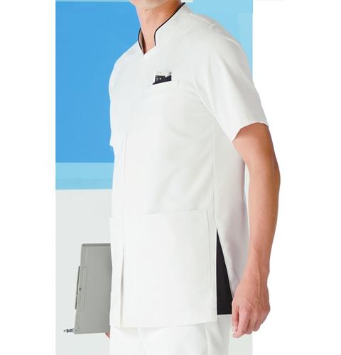 053 KAZENカゼン メンズジャケット 医療 白衣 半袖