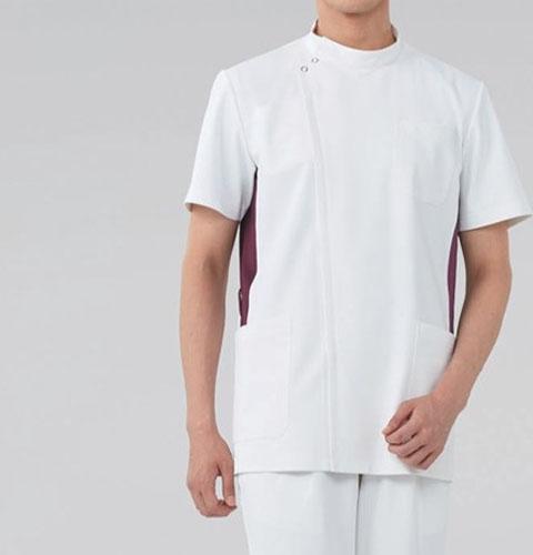 057 KAZENカゼン メンズジャケット 医療 白衣 半袖