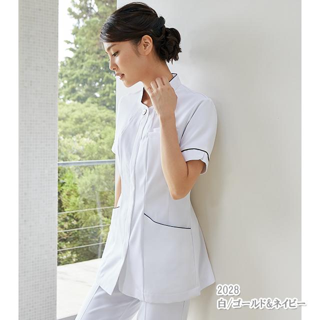 73-2022 ナースジャケット[モンブラン 白衣 医療用 女性用 レディース 半袖]送料無料