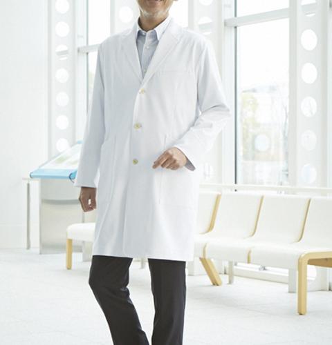 CM770 調剤薬局在宅訪問薬局衣WECURE薬剤師メンズコート[送料無料 薬局・薬剤師 白衣 医療用 男性用 メンズ トンボ]