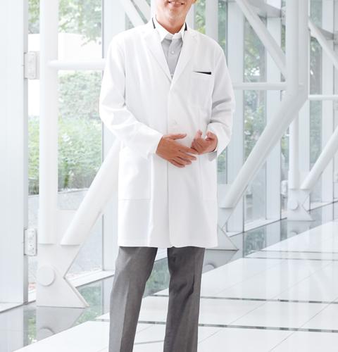 CM772 調剤薬局衣WECURE薬剤師メンズコート切り替え入り[送料無料 薬局・薬剤師 白衣 医療用 男性用 メンズ トンボ]