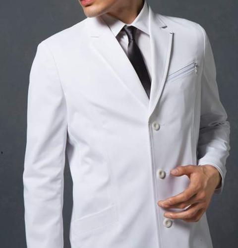 JK191 コシノジュンコ メンズ ドクターコート(ロング) モンブラン 男子 診察衣 長袖 シングルボタンタイプ [送料無料]