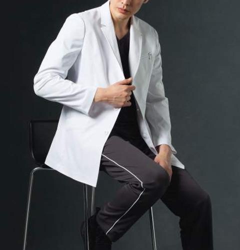 JK192 コシノジュンコ メンズ ドクターコート(ショート) モンブラン 男子 診察衣 長袖 シングルボタンタイプ [送料無料]