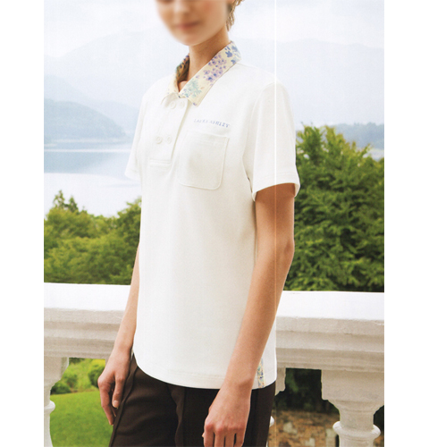 LW202 LAURA ASHLEY ニットシャツ・レディス半袖[モンブラン 介護用 医療用 女性用 レディース]送料無料