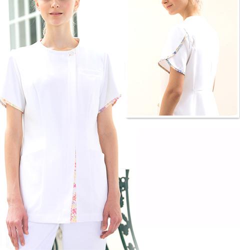 LW802 LAURA ASHLEYナースジャケット[モンブラン 白衣 医療用 女性用 レディース]送料無料