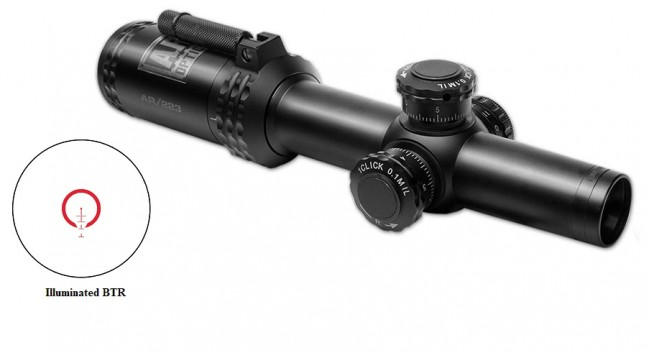 【超特価予約】Bushnell AR Optics1-4x24 FFP/BTR Reticle AR91424I