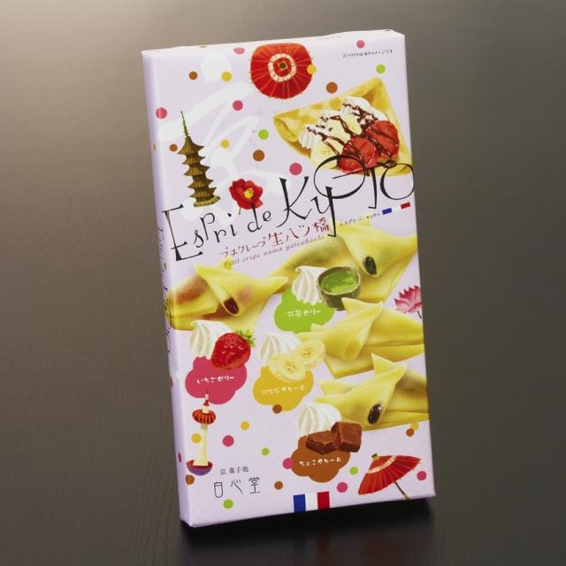 Espri de KYOTO プチクレープ生八ッ橋 12個入り (抹茶ゼリー、バナナクリーム、いちごゼリー、チョコクリーム)