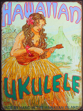 ブリキ看板 HAWAIIAN UKULELE