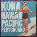 木製看板 Kona Hawaii Pacific Playground