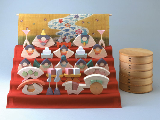 雛人形 遊プラン・小黒三郎 楕円びな五段飾り (特製垂幕つき) 《1年以上》