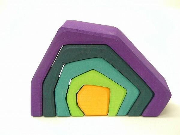 積み木 グリム社(GRIMM'S) エレメント積み木(大)・岩