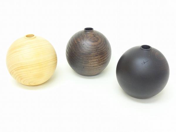 木製1輪挿し 丸形