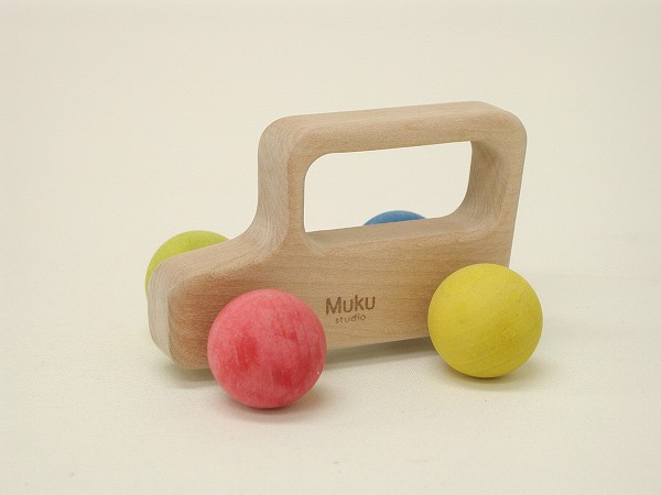 くるまのおもちゃ 無垢工房  カラコロ自動車 カラー