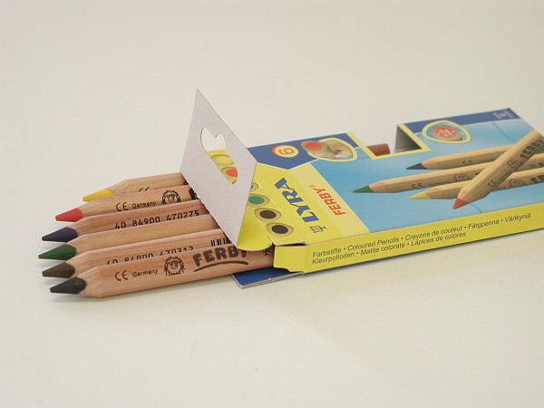 色鉛筆 リラ社(LYRA) ファルビー 軸白木・6色セット