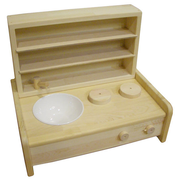 ままごとキッチン 木遊舎 ミニキッチン棚ボックスセット
