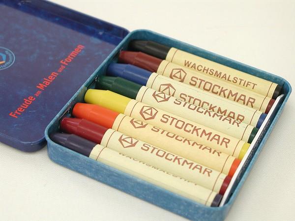 シュトックマー社 (STOCKMAR) 蜜ろうクレヨン・スティック 8色缶