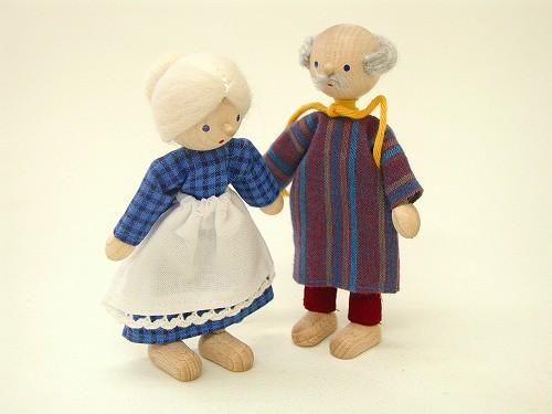ヘアヴィック社 ドールハウス用人形・おじいさんおばあさんセット