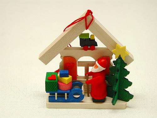 クリスマスオーナメント グラウプナー社(Graupner) オーナメント サンタの家・そり