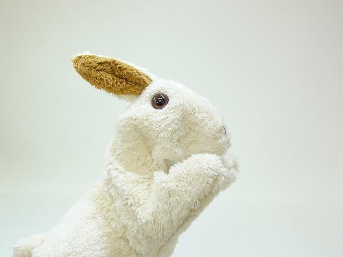 布のおもちゃ コットン手人形 うさぎ【動画あり】