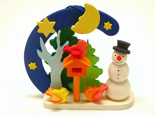 クリスマスオーナメント グラウプナー社(Graupner) オーナメント 雪だるま・ことり