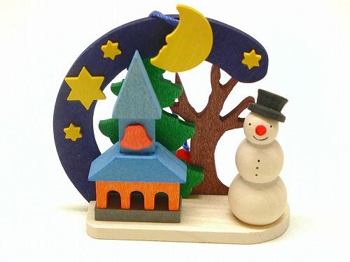 クリスマスオーナメント グラウプナー社(Graupner) オーナメント 雪だるま・教会
