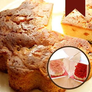 【母の日 ギフト】一輪のカーネーションシュガークラフト&フルーツケーキ