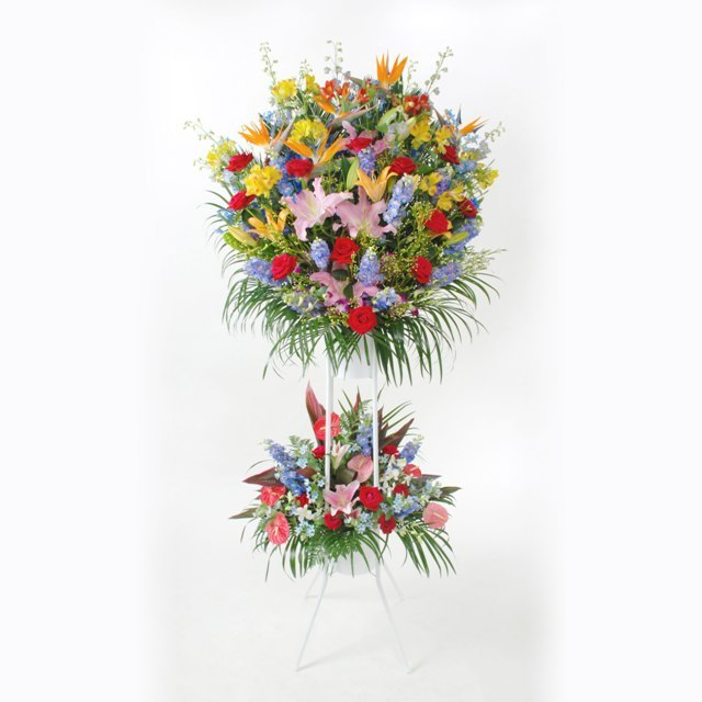 【スタンド生花】お祝い:2段 26,250円