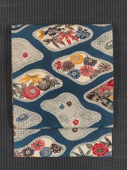 四季の草花文様 琉球紅型 名古屋帯