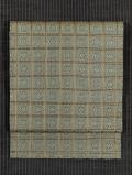 吉野格子に菊文様 西陣織り 名古屋帯