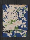花籠に草花文様 型染め 絽 名古屋帯