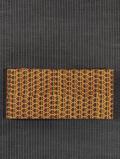 芥子色地 小花文様 印度更紗 半巾帯