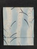 流水に女郎花と抽象文様 絽 名古屋帯