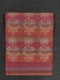 ふくれ織り地に縞と唐花文様の織り 洒落袋帯