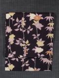 草花文様 型染め 名古屋帯