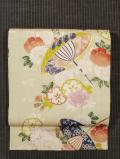 桜に傘文様 名古屋帯