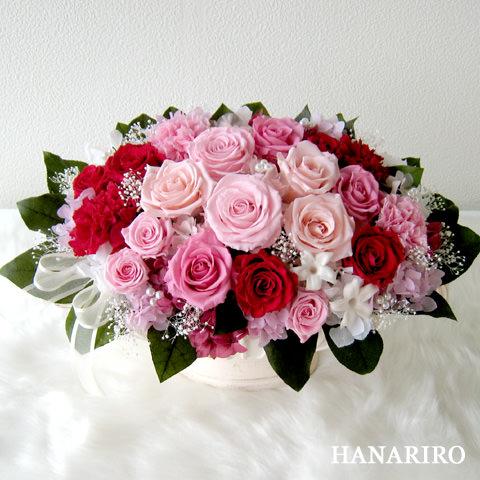 アレンジ「グランローズ」/プリザーブドフラワーギフト 【送料無料♪】