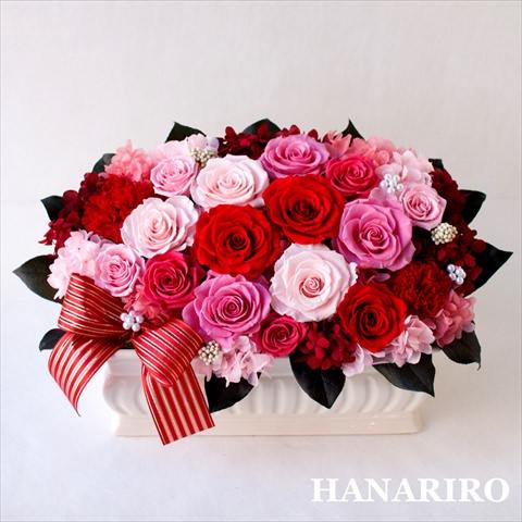 アレンジ「ブリリアントローズ」/プリザーブドフラワーギフト 【送料無料♪】