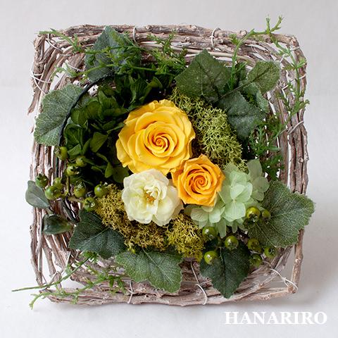 アレンジ「ナチュラルガーデンS」/プリザーブドフラワーギフト  【送料無料♪】