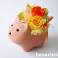 アレンジ「ネコさんアレンジ」/プリザーブドフラワーギフト  【送料無料♪】