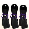 代表印・銀行印・角印 玄武(黒彩樺) 法人3本Dセット 牛皮袋付