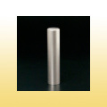 銀行印・実印・認印 チタン印鑑 ブラストチタン 13.5mm モミ皮ケース付