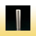 銀行印・実印 チタン印鑑 ブラストチタン 15mm モミ皮ケース付