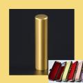 銀行印・実印・認印 チタン印鑑 プレミアムゴールド 13.5mm ケース付