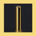 銀行印・実印・認印 チタン印鑑 ミラーゴールド 13.5mm