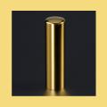 実印 チタン印鑑 チタン印鑑 ミラーゴールド 16.5mm
