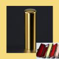 実印 チタン印鑑 チタン印鑑 ミラーゴールド 18mm ケース付