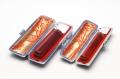 銀行印・認印 琥珀 特選 12mm+10.5mm 2本モミ皮ケース付セット