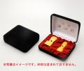 法人2本セット印鑑ケース(黒別珍) (18mm 24mm)